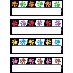 Paw Prints Desk Toppers Name Plates
