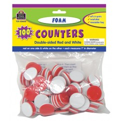 Foam Counters Red & White