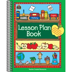 Lesson Plan Book Green Border