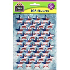 Large Flag Foil Stars Stickers
