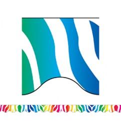 Zebra Rainbow Border Trim
