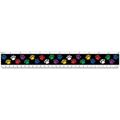 Rulers Colorful Paw Prints