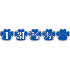 Calendar Days Blue Paw Prints