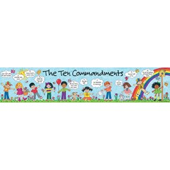 Childrens Ten Commandments Banner