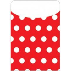 Brite Pockets Red Polka Dots 25/bag