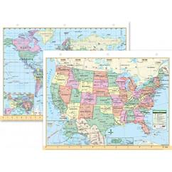 Us & World Notebook Map 8-1/2 X 11