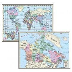 Political Maps Canada World 5/set