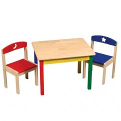 Moon & Stars Table & Chairs Set