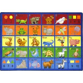 Animal Phonics Rug | Preschool Rug | Classroom Rug | ABC Rugs | Joy Carpets