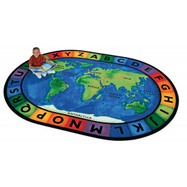 Circletime Around the World Rug | Educational Carpets | Seating Rugs