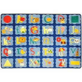 Alphabet Blues Classroom Rug | Educational Rugs | ABC Classroom Rugs