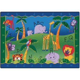 Alphabet Jungle Classroom Rug | Carpets for Kids | ABC Rugs
