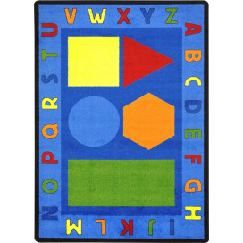 Alphabet Shapes Rug | Preschool Rugs | Classroom Rugs | ABC Rugs | Alphabet Rugs