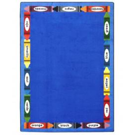 Bilingual Colors Classroom Rug