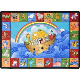 Noah's Alphabet Animals Classroom Carpet | ABC Rugs | Faith Based Rugs
