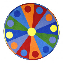 Color Wheel Carpet Round
