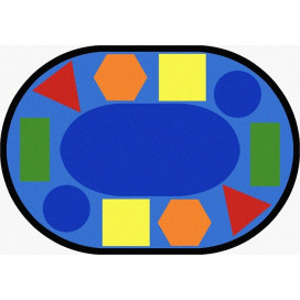 Sitting Shapes Carpet Oval