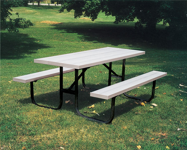 recycled plastic picnic tables aluminum tables