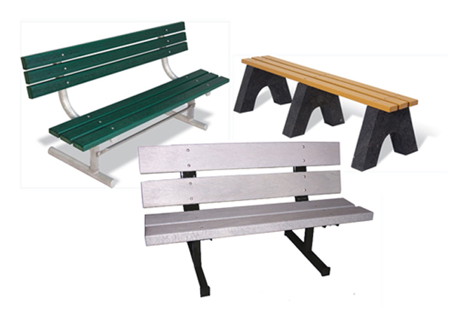 Recycled Plastic Benches