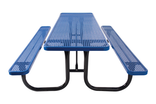 BYO Series Perforated Picnic Table - 6' or 8'