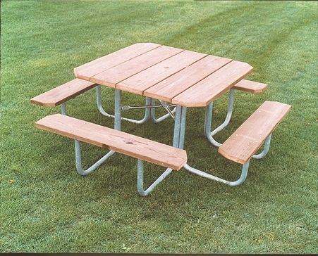Square Wood Picnic Tables for Sale
