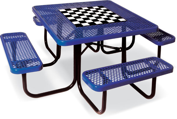 Square Picnic Table with Game Top - 46