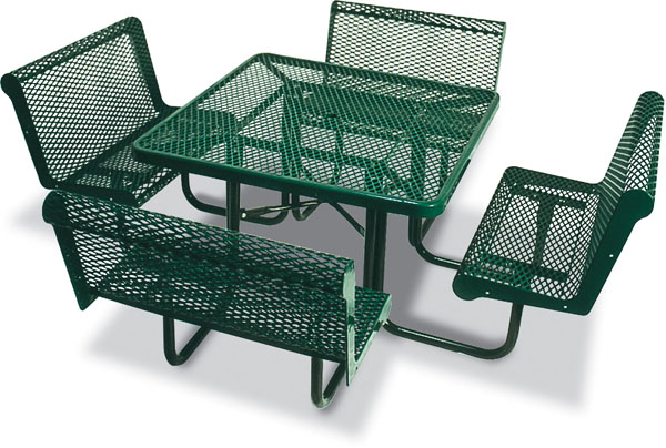 Square Picnic Table with Chairs