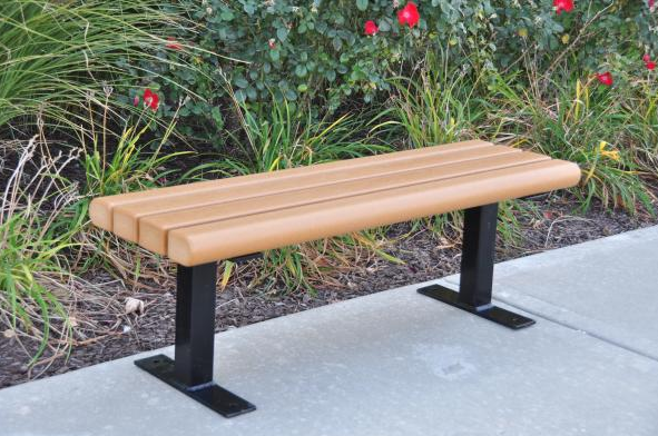 Recycled Plastic Backless Park Bench
