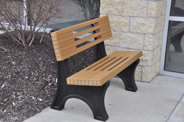 Contemporary Recycled Park Bench