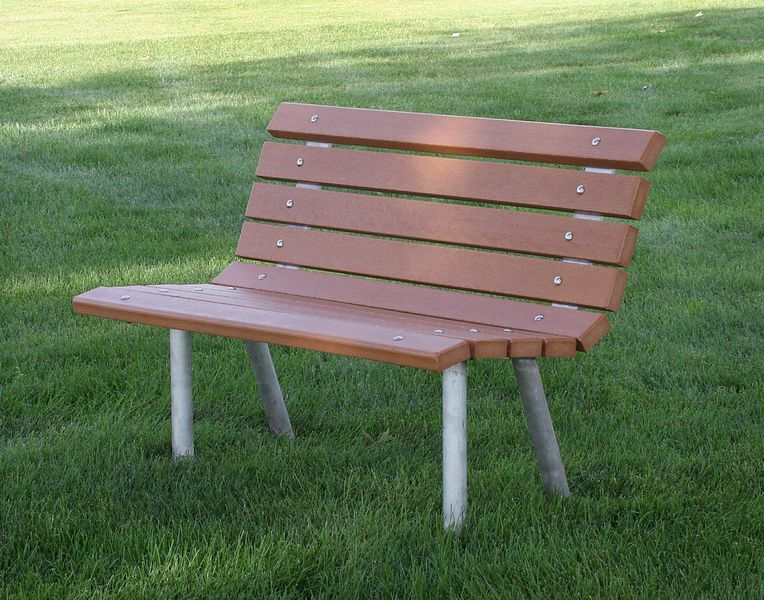 Heavy Duty Recycled Park Bench - Cedar