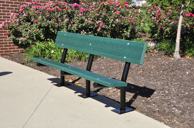 The Maddie Bench - Green - Surface Mount