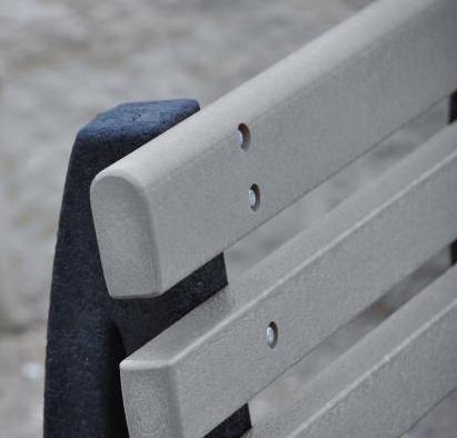 Park Avenue Bench - Gray