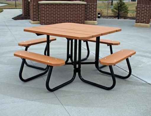 Beveled Square Recycled Table