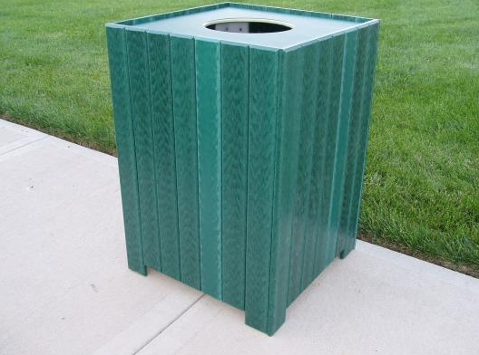 Standard Square Recycled Trash Receptacle