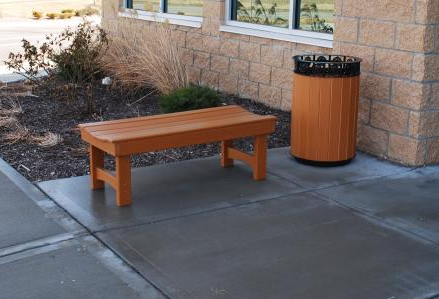 The Savannah Receptacle- shown with the Recycled Garden Bench