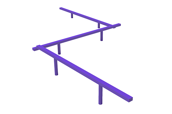 Triple Straight Balance Beam