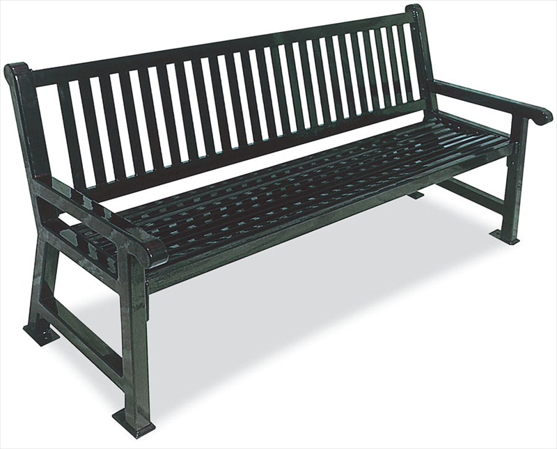 Slat Street Bench | Metal Park Benches