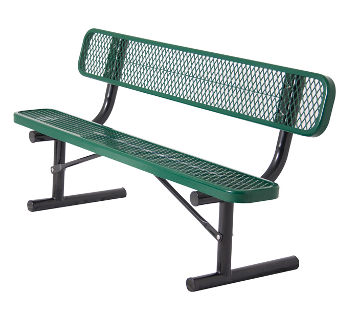 BYO Series Diamond Metal Bench w/ Back
