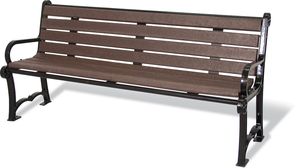 Commercial Park Bench With Curved Back