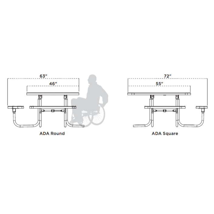 ADA accessible op - 3-seat
