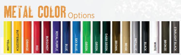 Metal Color Options