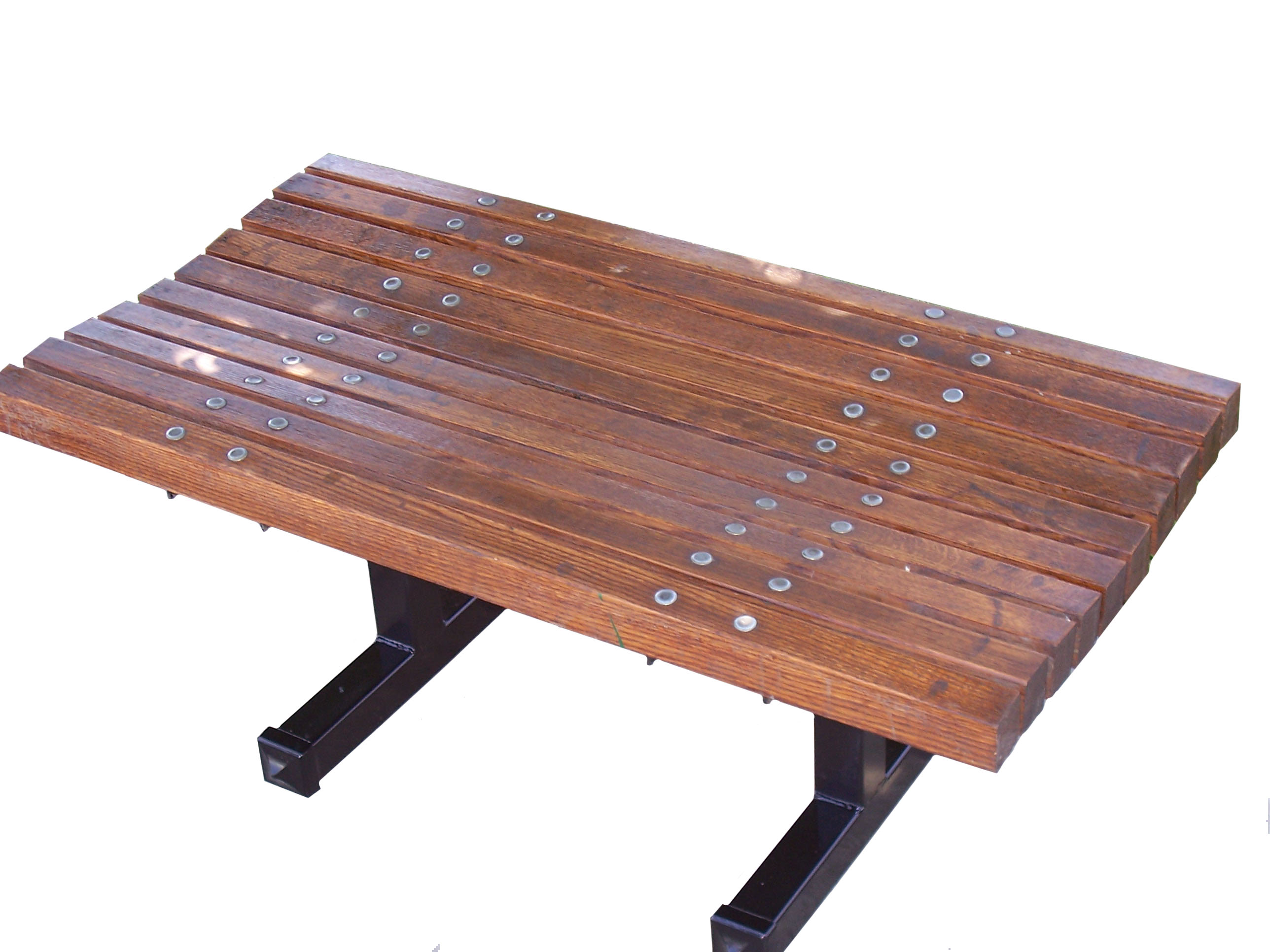 Amazing photo of Contoured Backless Wooden Bench Wood Park Benches with #8E563D color and 2576x1932 pixels