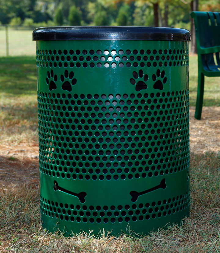 Dog Themed Tidy Up Trash Receptacle