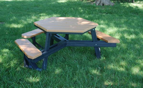 ADA Recycled Hex Picnic Table Recycled Picnic Tables - Ada picnic table requirements