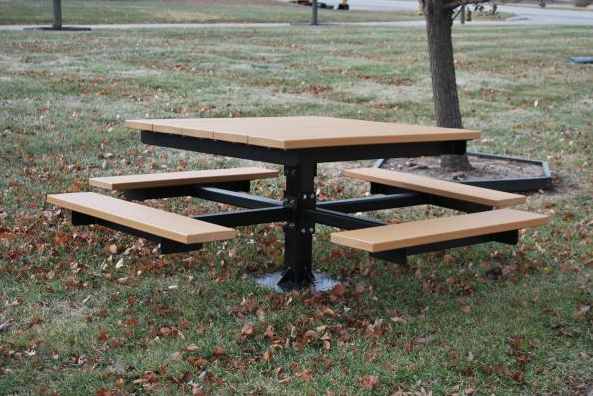 Recycled Square Picnic Table - Cedar