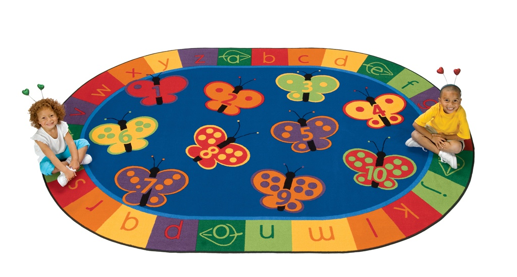 Erfly Fun Carpet Preschool Rugs Clroom Abc Alphabet