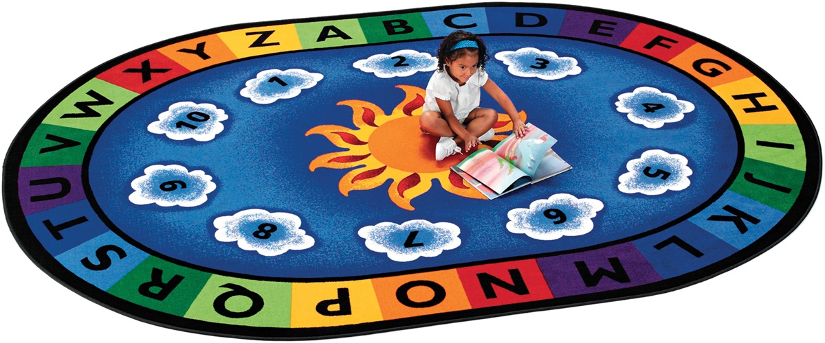 Sunny day learn play classroom rug circletime rugs for Classroom rug