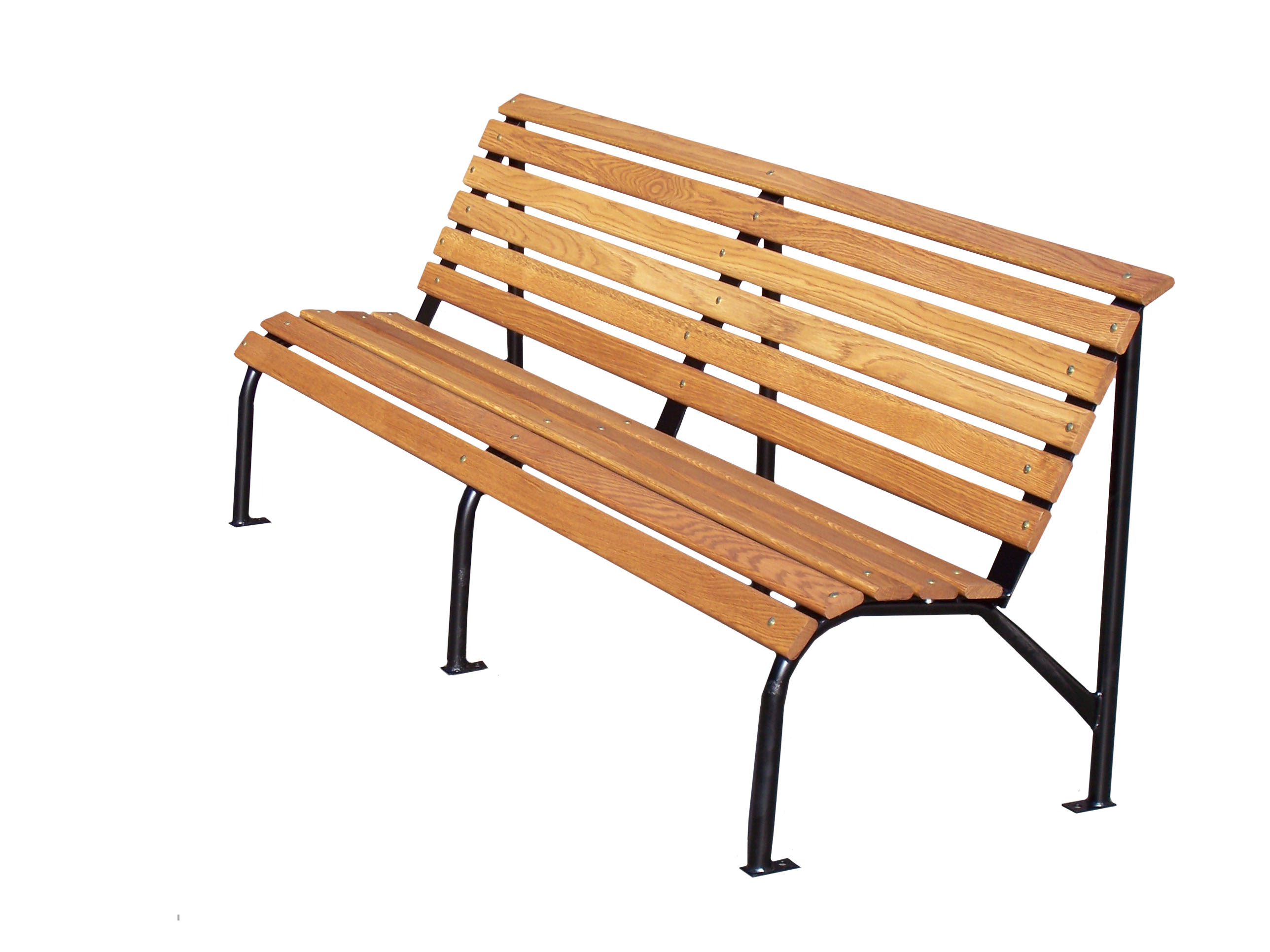 Wooden benches park outdoor