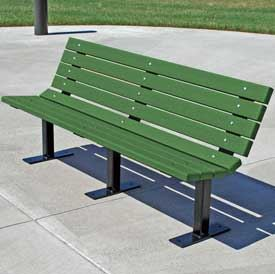 Contoured Recycled Park Bench Model