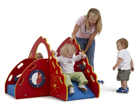 Red, yellow, blue toddler climber
